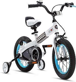 RoyalBaby Boys Girls Kids Bike Honey Buttons 3-9 Years Old 12 14 16 18 Inch Training Wheels Kickstand Red Blue Green Purpl...