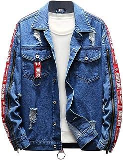 MODOQO Men's Jacket Long Sleeve Casual Loose Fit Denim Outwear Coat with Pocket