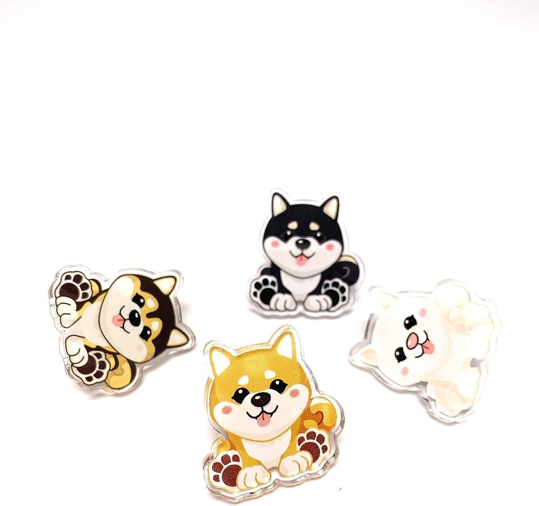 Shiba Inu Kawaii Acrylic Pins NEW before selling shipfree