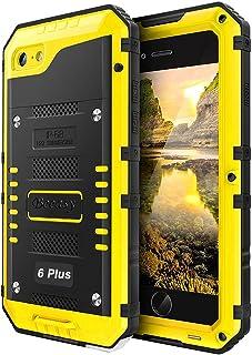 030687f1e Beeasy Funda para iPhone 6 Plus / 6S Plus,Antigolpes Robusta Impermeable  Carcasa Waterproof Anticaídas