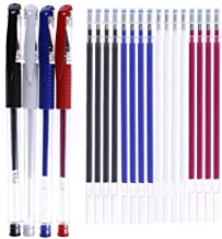 4 Pieces Heat Erase Pens with 40 Heat Erasable Fabric Refills Marking for Sewing, Quilting and Dressmaking(4 Colors)