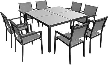 Amazon.fr : Table Jardin Carrée 8 Personnes