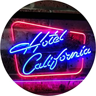 ADVPRO Hotel California Bar Club Room Beer Dual Color LED Neon Sign Red & Blue 16