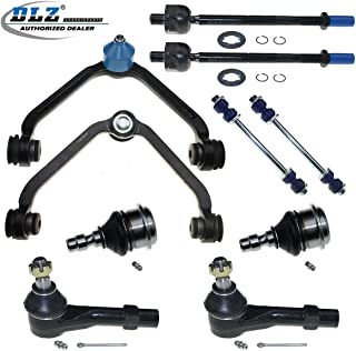 10 Pcs Front Suspension Kit-2 Upper Control Arm 2 Lower Ball Joint 4 Outer Inner Tie Rod End 2 Sway Bar Compatible with Ford Ranger 1998-2011 Replacement for Mazda B2500 1999-2001 K80068