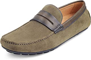 tresmode Men Casual Suede Leather Loafers  Driving Shoes