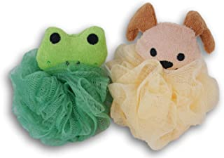 Greenbrier International Dog and Frog Shower Bath Pouf Bundle