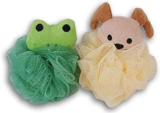 Greenbrier International Dog and Frog Shower Bath Pouf Bundle