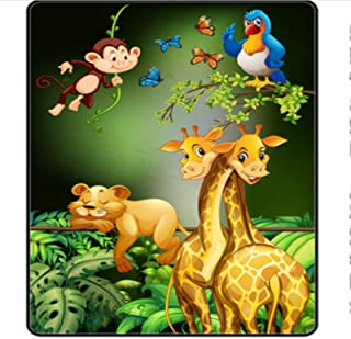 ZZXC Tapis Ménage Rectangulaire Animation Tapis De Bande Dessinée Chambre d'enfants Chambre Tapis De Chevet Salon Hall Bua...