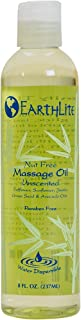 EARTHLITE Massage Oil Nut Free - Paraben Free, Silicone Free, Mineral Oil Free, Light & Smooth Massage Oil for all massages (8oz)