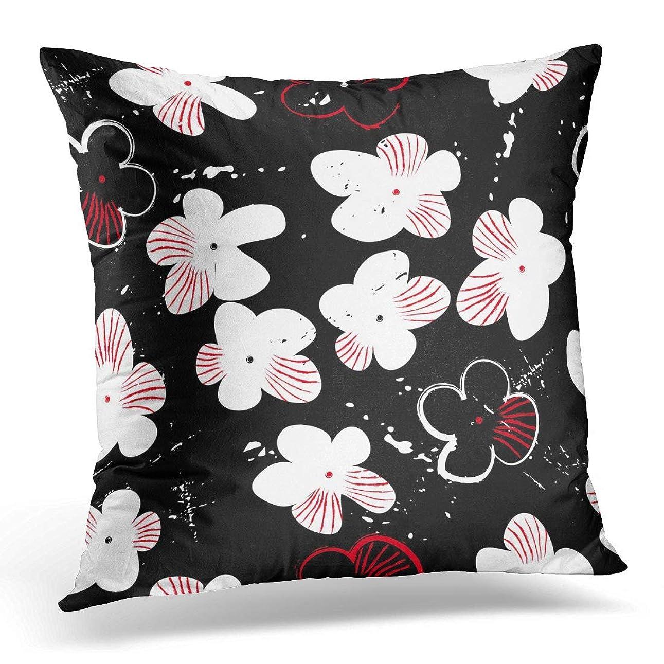 連続的絡み合いグラフィックAdlington枕枕カバー斑点を付けられた花および小さい花紫色のアールデコ枕カバー寝具枕カバー家の装飾18 x 18インチ