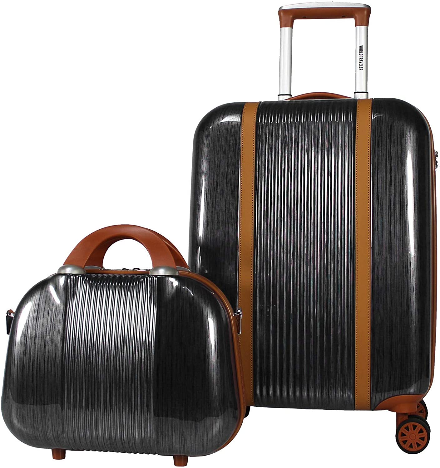 Inventory cleanup selling sale World Traveler Classique Limited price sale Hardside Carry-On Spinner Luggage 2-PC