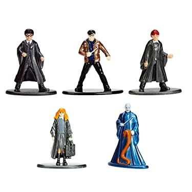 """Harry Potter Figures Toys Party Favors Gifts Set for Kids ~ 5-Pieces Collectible Toy Figurines, 100% Die-Cast Metal, 1.65"""" (Harry Potter Party Supplies)"""
