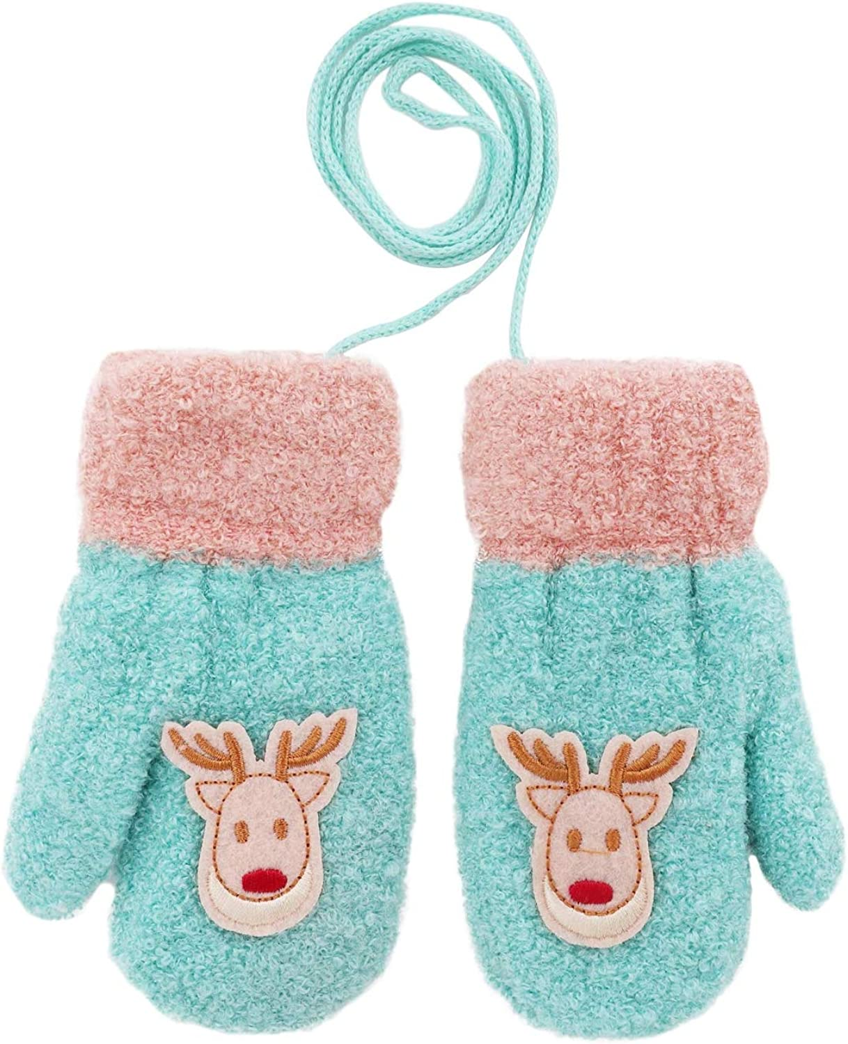 Baby Toddlers Warm Knitted Winter Challenge the lowest price of Japan ☆ String Free shipping New with Girls Gloves Boys