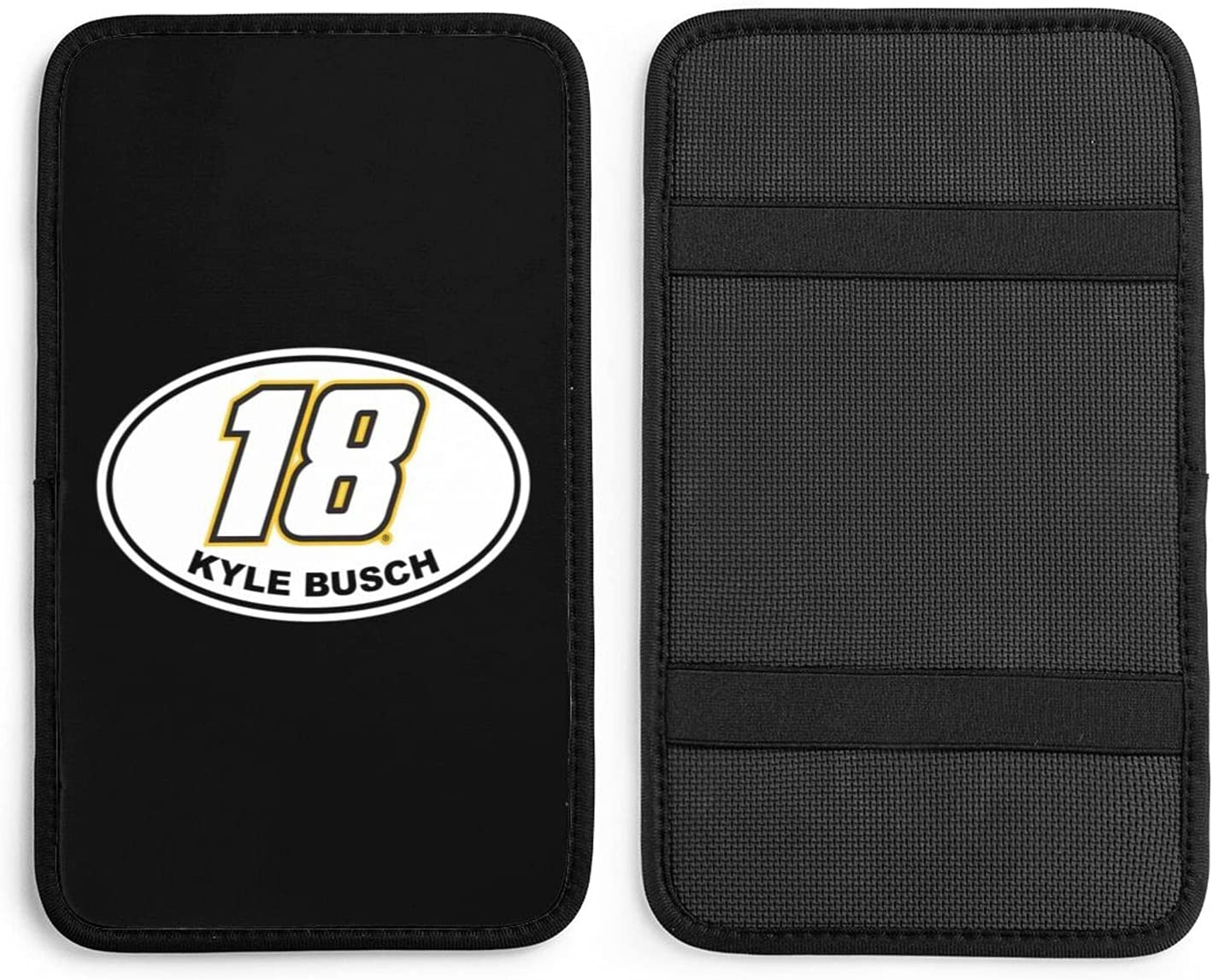 Challenge the lowest price of Japan ☆ Kyle-Busch #18 Center Console OFFicial store Cover Auto Armre Car-Universal Pad