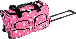 Rockland Rolling Duffel Bag, Pink, 22-Inch