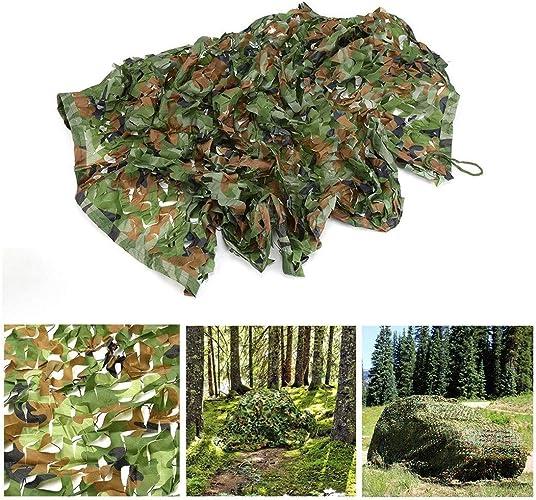 Enfants Camouflage engrener Net Filet Crème Solaire Tissu Camo Net Pour 2x3m 3x5m Chasse Chasse Ombrelle Tir Militaire Camping Tir Aveugle Cacher Décorations de Fête,Vert ( Taille   45M(13.116.4ft) )