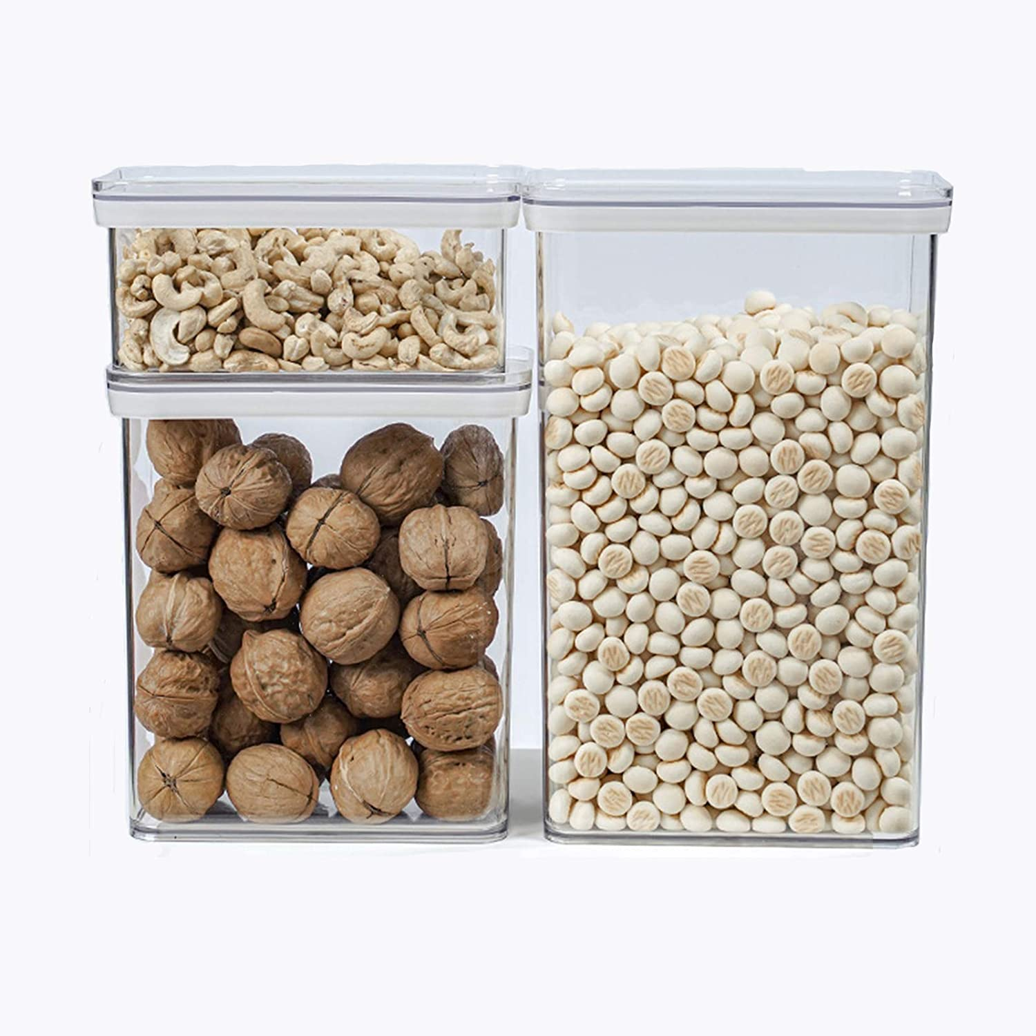 LWKBE Food Storage Containers with Easy-Lock Lid, Airtight Cerea