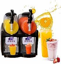 HANMIAO Machine À Sorbetière À Slushy Commerciale 300W, 2X2.5L Machine À Crème Glacée Aux Fruits De Ménage Automatique, Ma...