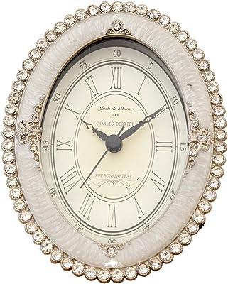 秋月貿易 アンティーク調 パール/ラインストーン 時計 (C ラインストーンオーバル)