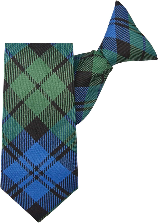 Jacob Alexander Boys' Royal Tartans Plaid 11-inch Clip-On Neck Tie
