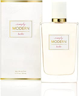 Belle - Simply Modern Perfume Spray - Seductive Eau de Parfum - Intoxicating Feminine Scent - Glittering Grapefruit, Dewy Water Hyacinth, Sensual Cedarwood - 1.7 oz
