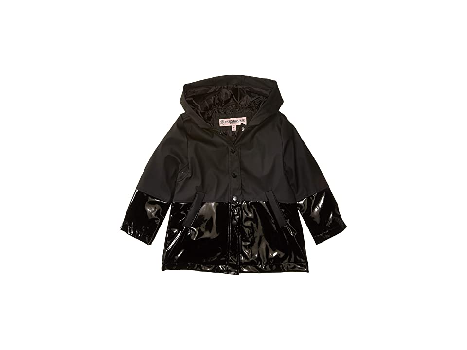Urban Republic Kids Raincoat Color Block Jacket (Infant/Toddler) (Black) Girl
