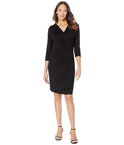 Karen Kane Kate Wrap Dress (Black) Women