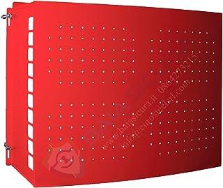 Cubre aire acondicionado todo color con puerta perforada 80 x 85 x 44 rojo