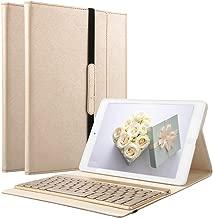 iPad Keyboard Case for iPad 2 /iPad 3 /iPad 4, KVAGO Protective Auto Sleep Wake Smart Cover with Removable 7 Colors Backlight Bluetooth Wireless Keyboard Case(Compatible with iPad 2/3/4), Gold
