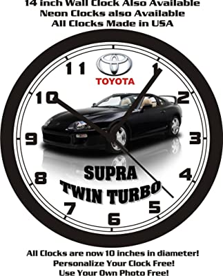 1998 TOYOTA SUPRA TWIN TURBO WALL CLOCK-FREE USA SHIP!