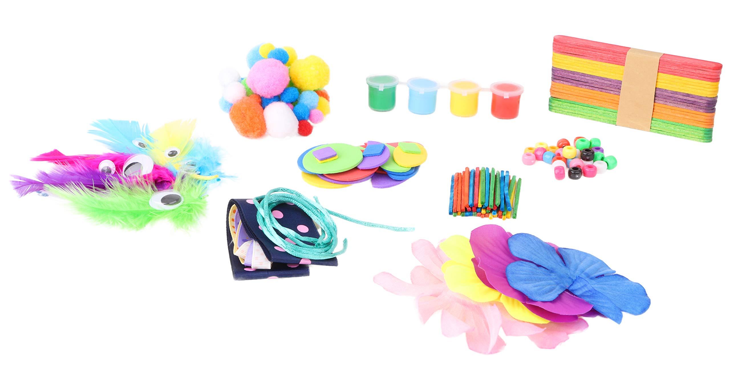 TOYLAND Caja para Manualidades Jumbo de 300 Piezas Kits de Arte y Manualidades - Conjuntos de Manualidades para niños: Amazon.es: Juguetes y juegos