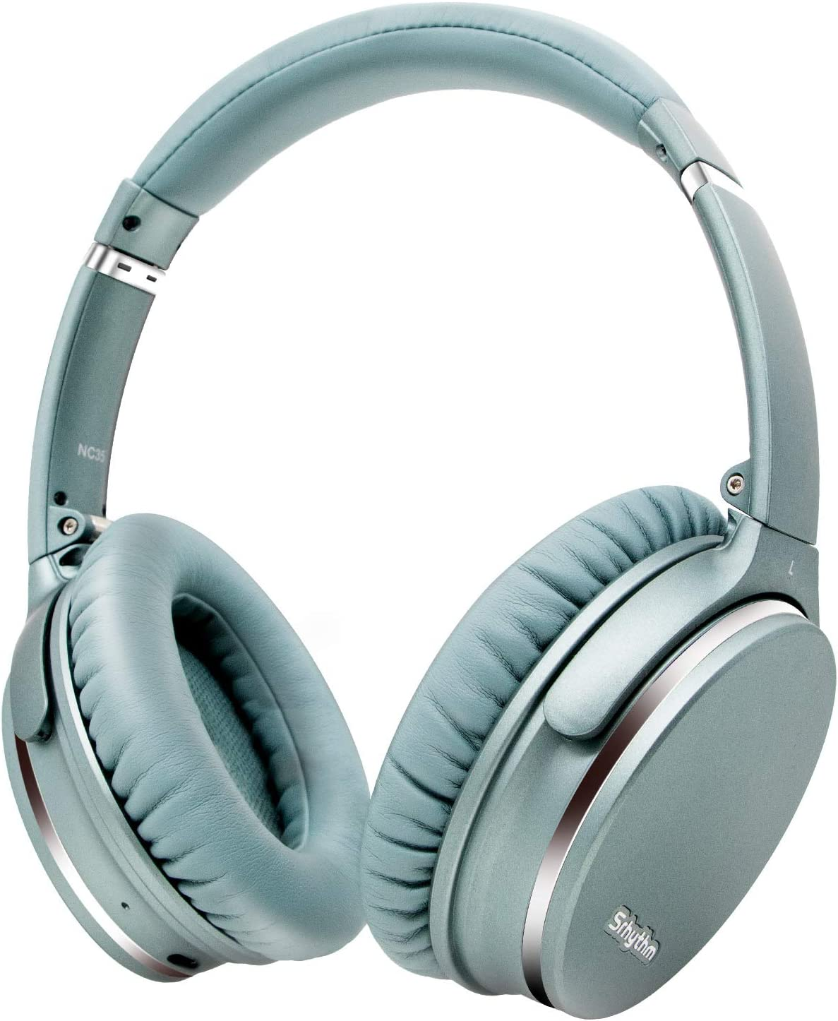Noise Cancelling Headphones Wireless Bluetooth 5.0, Fast Charge Over Ear Lightweight Srhythm NC35 Headset with Microphones,Mega Bass 40+ Hours' Playtime -Low Latency