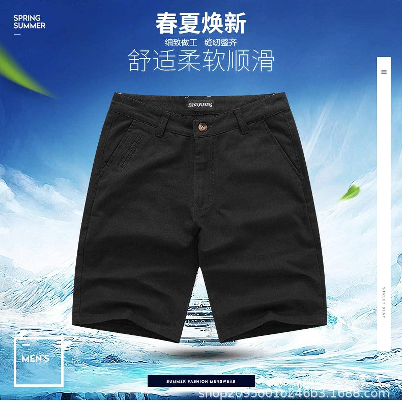 NC Men's Summer Shorts, Cotton Casual Pants, Five-Point Pants, Beach Pants