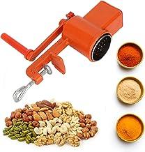 Moulin à noix, fraiseuse à manivelle manuelle à manivelle de maïs manuel à manivelle, alliage d'aluminium pour noix, avoin...