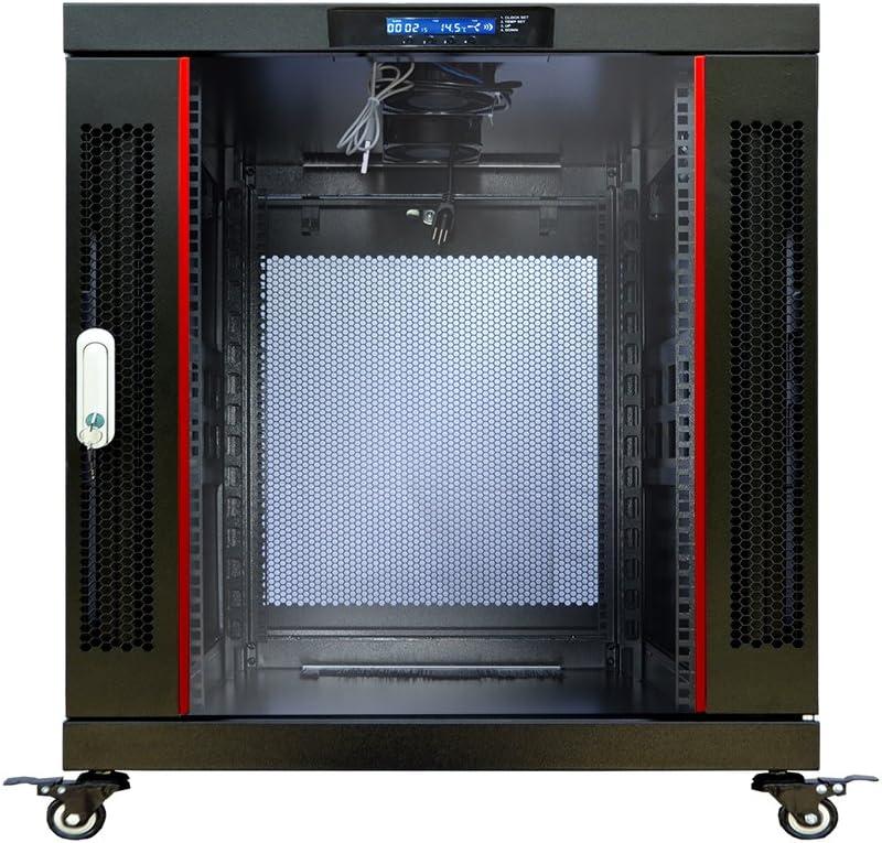 Sysracks 12U 35inch Deep Server Rack Cabinet It Enclosure Premium Series Data It Locking Under Desk Network Rack with Wheels PDU and Other Accessories
