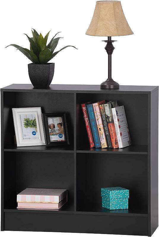 Fineboard FB BC11 BK Bookshelf Storage Cabinet 4 Shelves Home Office Bookcase Black