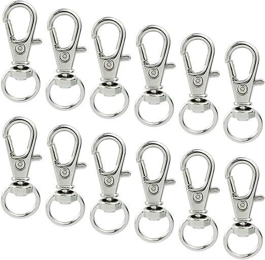 30 Pcs 52*16mm Plastic Hook Rocker Swivel Strap Webbing,2 inch Plastic Swivel Snap Hook,Carabiner Keychain,Key Chain for bag