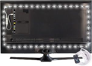 Luminoodle Professional Bias Lighting for HDTV | 6500K True White + 15 Color LED TV Backlight with Remote | USB Lights Str...