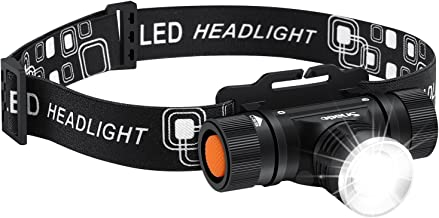 LED Headlamp Flashlight, Snado 2000lm Super Bright Rechargeable Headlight Flashlight, Waterproof, 3 Modes Zoomable for Hiking, Camping, Reading, Fishing, Hunting, Outdoor Sports