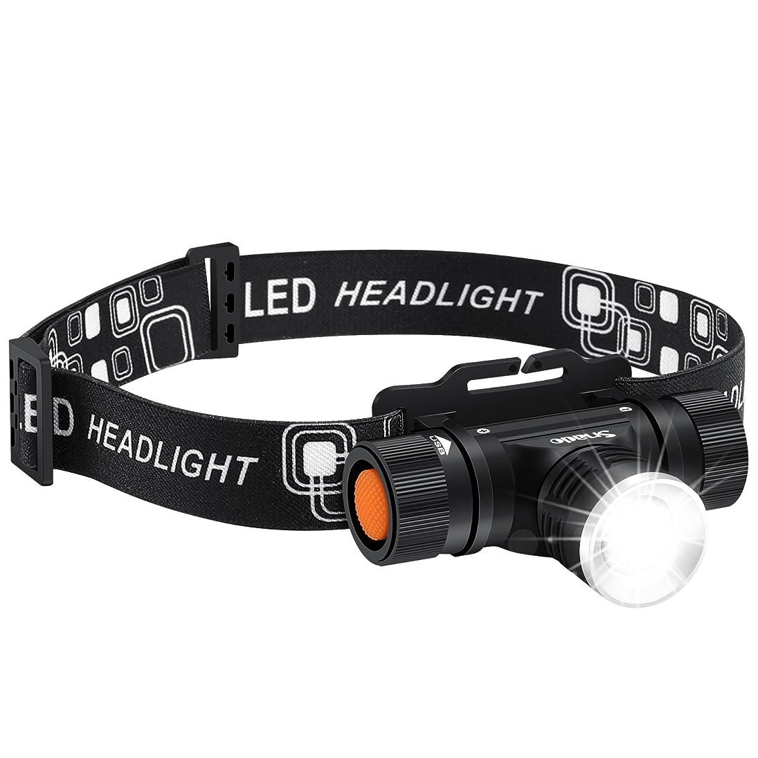 絶縁する奨励近代化するLEDヘッドライト Snado超高輝度 2000ルーメン 充電式 防水仕様 18650 3段階の点灯モード 登山 夜釣り アウトドア作業 SOSフラッシュ機能