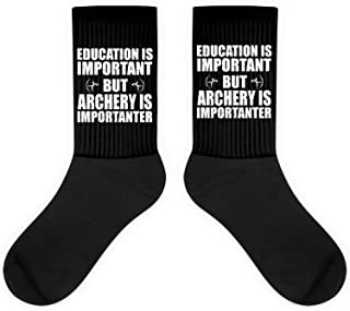 Education Is Important But Archery Is Importanter Youth USA Gift,Bow, Arc Socks