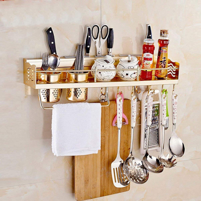 Der Kitchen Wa Mount Auminum Seasoning Rack Pendant God Storage Shelves