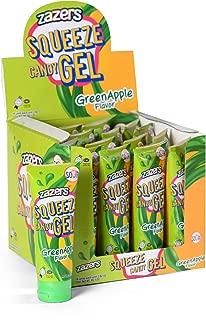 Zazer's | Sour Candy Gel | Super Sour Green Apple Flavor | Squeeze Candy | Novelty Candy | Kosher Candy | 16 x 2.82 oz (80g) Piece Bulk Candy Pack