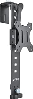 VIVO Black Office Cubicle Bracket VESA Monitor Mount Stand Hanger Attachment | Adjustable Clamp for 17 to 32 inch Screens (Mount-CUB1)