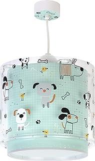 Dalber Lámpara Infantil Colgante Happy Dogs Perros Verde Animales, 60 W