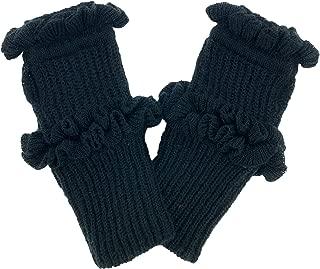 Rebecca Minkoff Fingerless Black Frilly Gloves