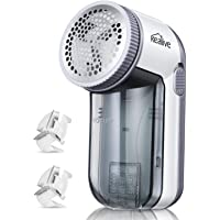 Kealive Sweater Fabric Shaver Lint Balls Pills Fuzz Remover with 3 Replaceable Stainless Steel Blades & Removable Bin