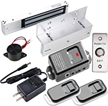 UHPPOTE Access Control 600lbs Electromagnetic Lock Kit with Bracket Remote Exit Button