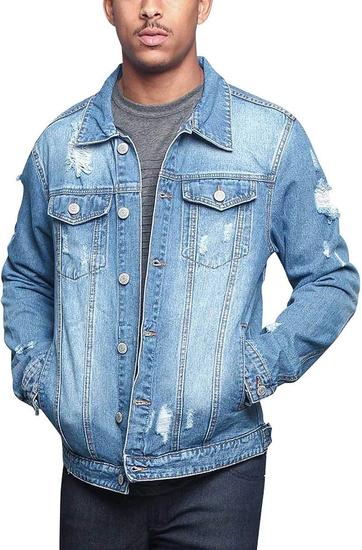 Men's Classic Fashion Denim Trucker Jean Jacket