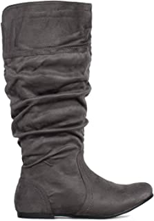 RF ROOM OF FASHION Women's Wide Calf Knee High Slouchy Boots